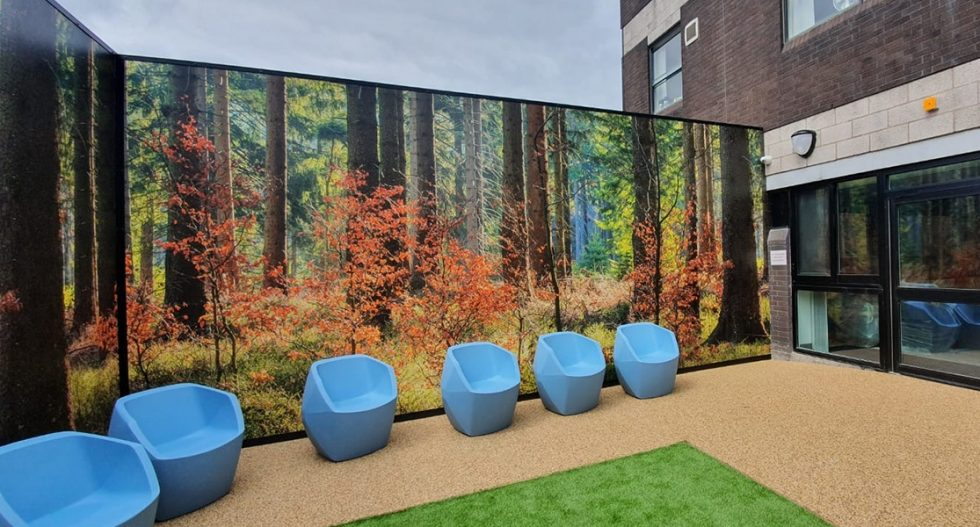 bespoke fencing cladding for nhs trust-5